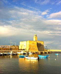 Ostuni's port, Villanova, is still beautiful in the middle of winter.