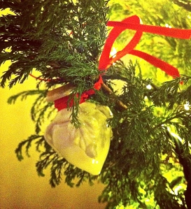 Our Pugliese Christmas tree is decorated with ceramic pigne, which bring good fortune.
