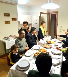 Extended Italian families still eat together.