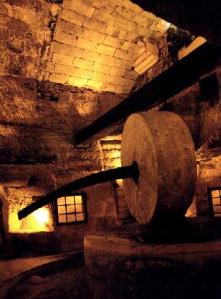 One of Gallipoli's ancient underground olive presses can be visited today.