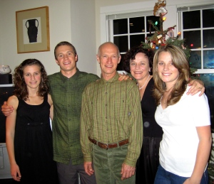 The Faris family (L to R: Francesca, Stephen, Brian, Catherine and Sarah).