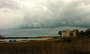 A wintry day at the beach near Ostuni.