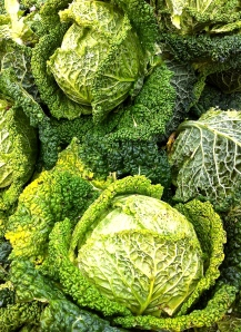 Beautiful Savoy cabbage is a wintertime market staple in the Valle d'Itria.