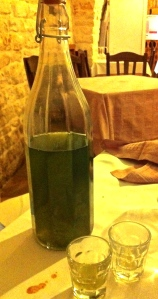 Liquore d'alloro, an after-dinner digestivo made from Mediterranean bay leaves, is a frequent guest at Sunday lunch.