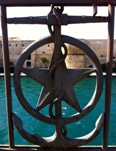 Looking out at Taranto's Castello in Taranto Vecchia.