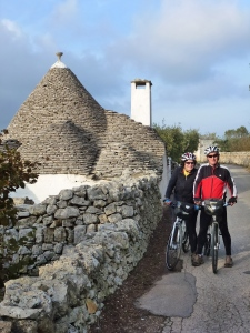 Brian and Catherine on via Alberobello.
