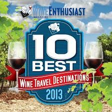 The January 2013 issue of Wine Enthusiast features Puglia as one of the ten best worldwide wine destinations.