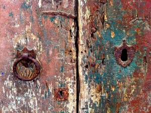 This door in the centro storico of Galatina deep in the heel of Italy's boot is still in use today.