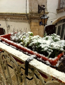 Winter hasn't loosened its grip on Martina Franca quite yet.