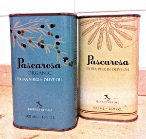 Pascarosa Extra Virgin Olive Oil tins are filled, tapped, packed and ready to be shipped to the U.S.
