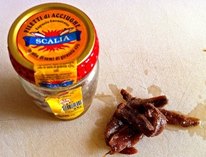 Anchovies—the indispensable ingredient in Pasta con la Mollica.