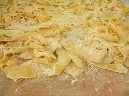 Handmade lagane pasta is easy to make if you have a little extra time.