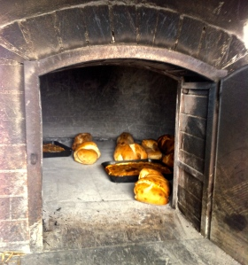 Bread and foccacia from a nearby farmer's wood-burning oven.