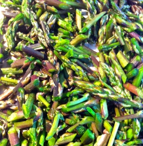 Wild asparagus is ready for its debut in a spring risotto.