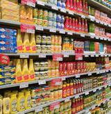The same U.S. food products from multinational producers can be found in Italian supermarkets, too.