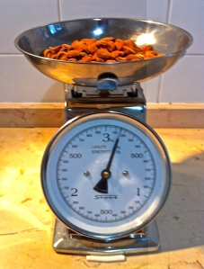 Weigh all of your dry baking ingredients on a kitchen scale for perfect results.