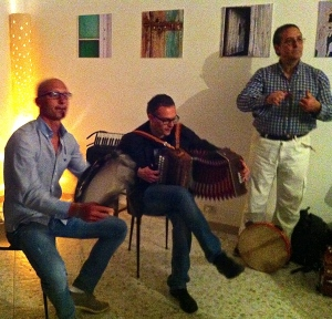 A friend's party in Cisternino where music is on the menu.