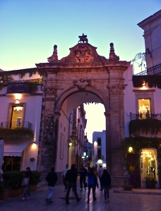 The evening passeggiata begins in Martina Franca when the sun starts to set.
