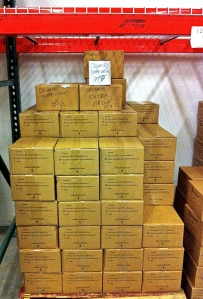 Pascarosa olive oil carefully stored at Wright Fulfillment Services in Ashland, OR.