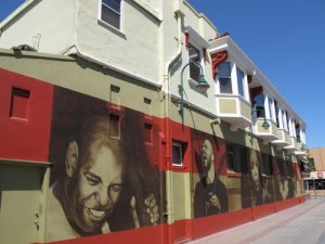 Larger than life mural in downtown Santa Cruz, CA (Photo credit: Seezunge-www.panoramio.com)