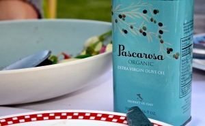 Pascarosa olive oil was served alongside Soif chef Santos Majano's exquisite food.