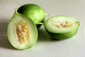 A cross between a melon and a cucumber, cocomeri are much loved in Puglia for their thirst-quenching capability (Photo credit: www.annathenice.com).