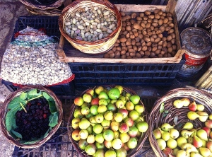 What's on offer from a local forager at the Wednesday market in Martina Franca.