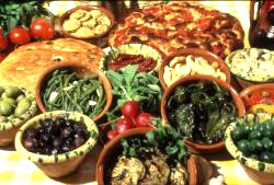 Just a small sample of a typical antipasto misto in Puglia (Photo credit: Ennio Cozzolino; www.tesoridelladriatico.com