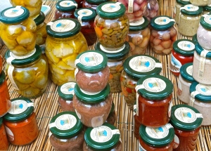 Just some of the amazing preserved fruit and vegetable products we're bringing from Puglia to the U.S. soon.