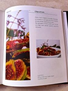 """Fig chips recipe in Italian in Paolo Belloni's """"Figs of Puglia"""" book."""