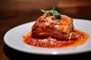 Parmigiana di melanzane in all its glory.