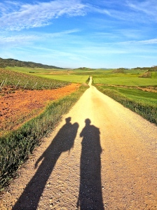 Our shadows were our frequent companions every morning on the Camino.