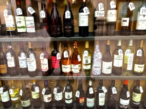 Just a small selection of wine from Rioja in Logrono, one of our favorites along the Camino.