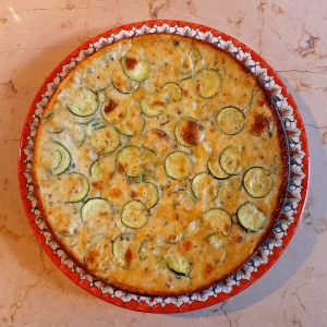 La Scarapaccia, a hybrid frittata from Tuscany, is another contender for piatto forte status. I make it every chance I get when zucchini is plentiful, especially when I can find zucchini flowers.