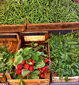 Green beans, radishes and more. It's hard to resist taking it all home.