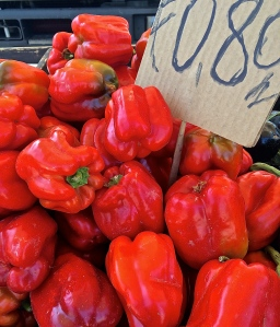 Peppers are abundant in the vegetable market now, making stuffed peppers are a perfect summertime piatto forte.