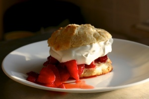 Classic Southern (maybe Midwestern, too) Strawberry Shortcake.