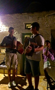 These boys serenaded us during dinner with traditional pizzica music.