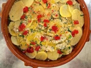 Tiella alla Barese: the potato-centric version.