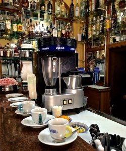 Coffee, Pugliese-style is almost ready to drink at the venerable Caffè Tripoli in the heart of Martina Franca's centro storico.