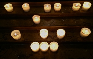 Candles in Taranto's Cathedral of San Cataldo