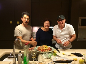 In September, we joined one of our favorite groups of guests as they prepare a dinner extravaganza in the kitchen of their rented villa.